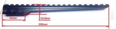 Мостик ласта-вивер с одной опорой и углом наклона 10 МОА